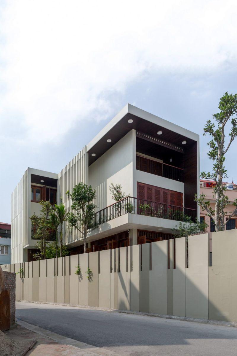 VMhouse exteriors 1k resize Ngôi nhà với vườn cây bốn mùa xanh mát tại Hà Nội qpdesign