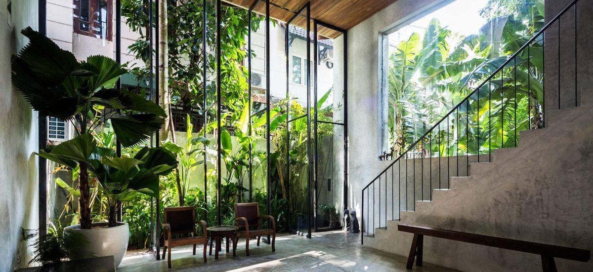 nha dep 2 Nhà phố 325m² với thiết kế hòa quyện với thiên nhiên tại Sài Gòn qpdesign