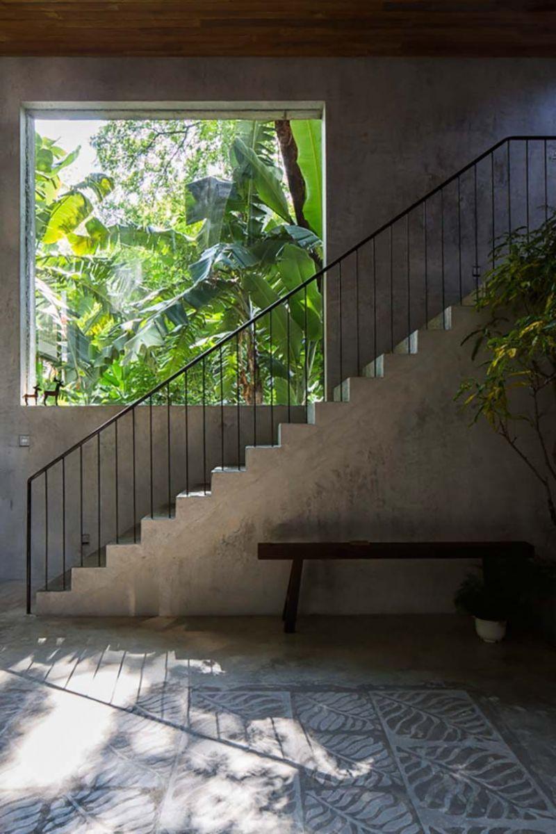 nha dep 4 1 Nhà phố 325m² với thiết kế hòa quyện với thiên nhiên tại Sài Gòn qpdesign