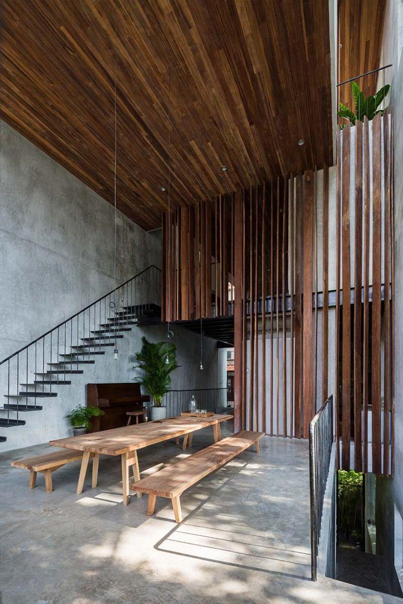 nha dep 5 Nhà phố 325m² với thiết kế hòa quyện với thiên nhiên tại Sài Gòn qpdesign