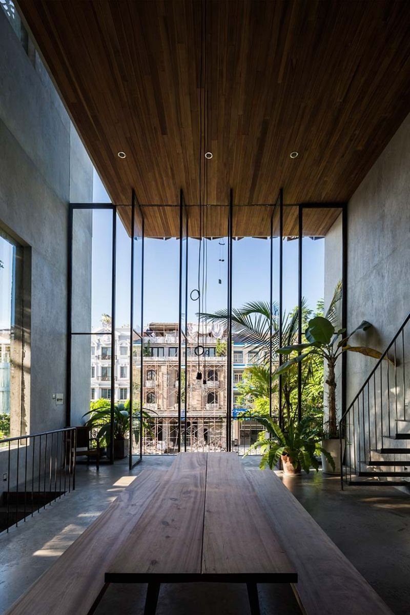 nha dep 7 Nhà phố 325m² với thiết kế hòa quyện với thiên nhiên tại Sài Gòn qpdesign